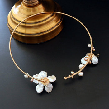 shell flower chokers necklace