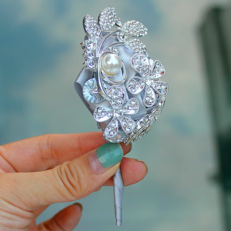 a406ef0d103db Factory boutinnere Brooch Pin creative bride and groom corsage ...