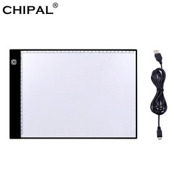 CHIPAL Digital Graphics Tablet A4 Drawing Tablet LED Light Box Pad Electronic USB Tracing Art Copy Board Writing Painting Table