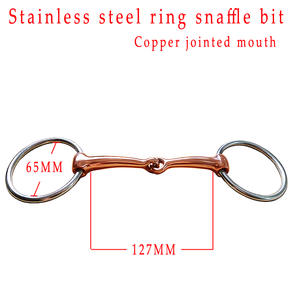Snaffle-Bit Mouth.horse Ring Jointed Product. Stainless-Steel Copper BT0503CU