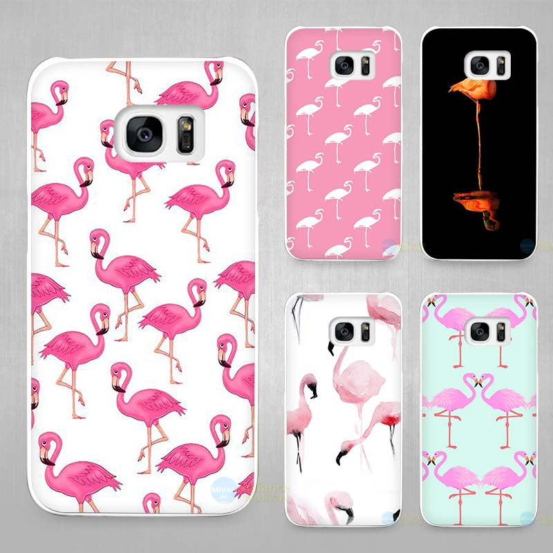 flamingo hard white coque shell case cover phone cases for samsung galaxy s4 s5 s6 s7 edge plus. Black Bedroom Furniture Sets. Home Design Ideas