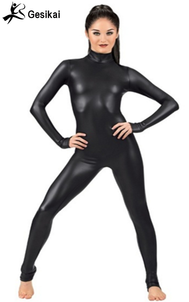 1783f63a3810 Товар 24 Hrs Shipped Out Women Black Turtleneck Gymnastics Catsuit ...
