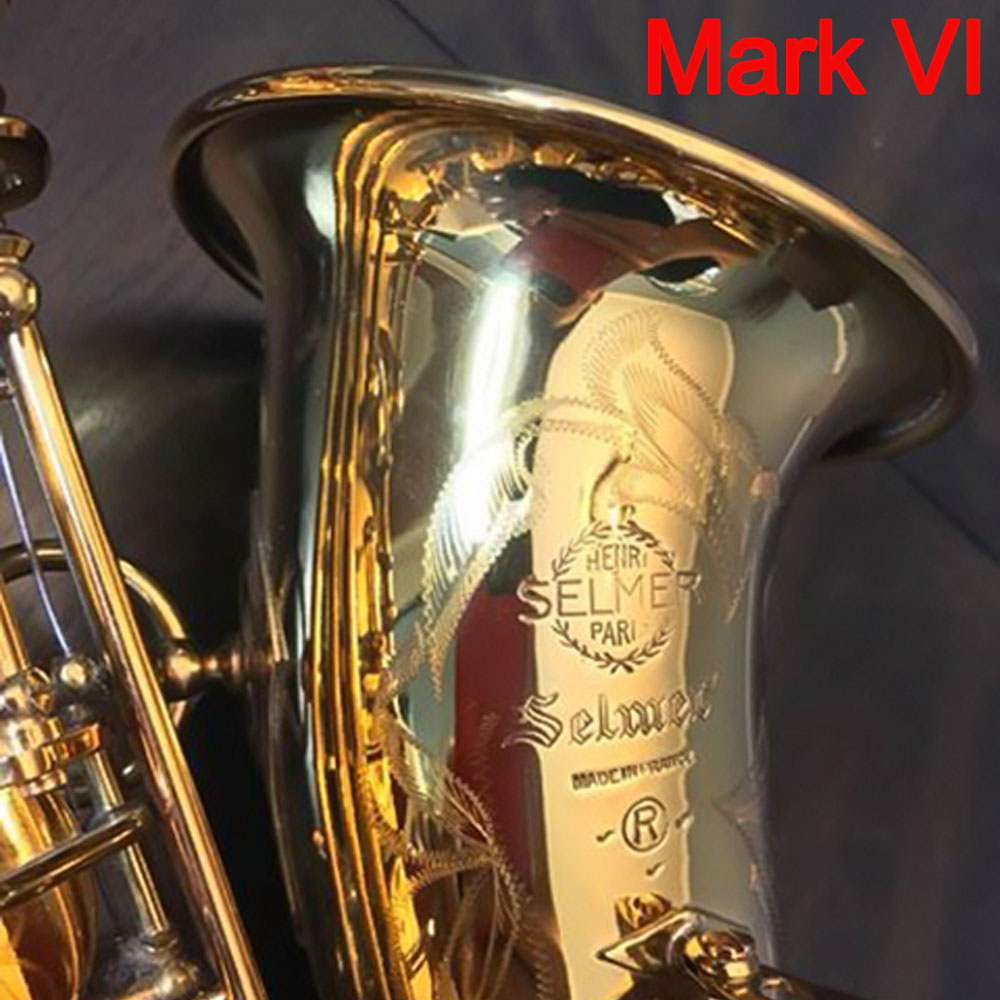 French Alto Saxophone Mark VI Gold Lacquer Intermediate Saxophone Alto Musical Instruments Professional Included Case