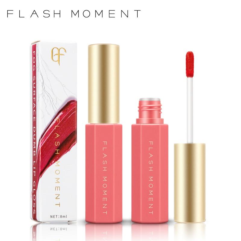 FlashMoment 6 Colors Moisturizing Liquid Lipstick Ingredient Velvet Feeling Matte Lip gloss Labial Glair Lips Glaze MakeUp