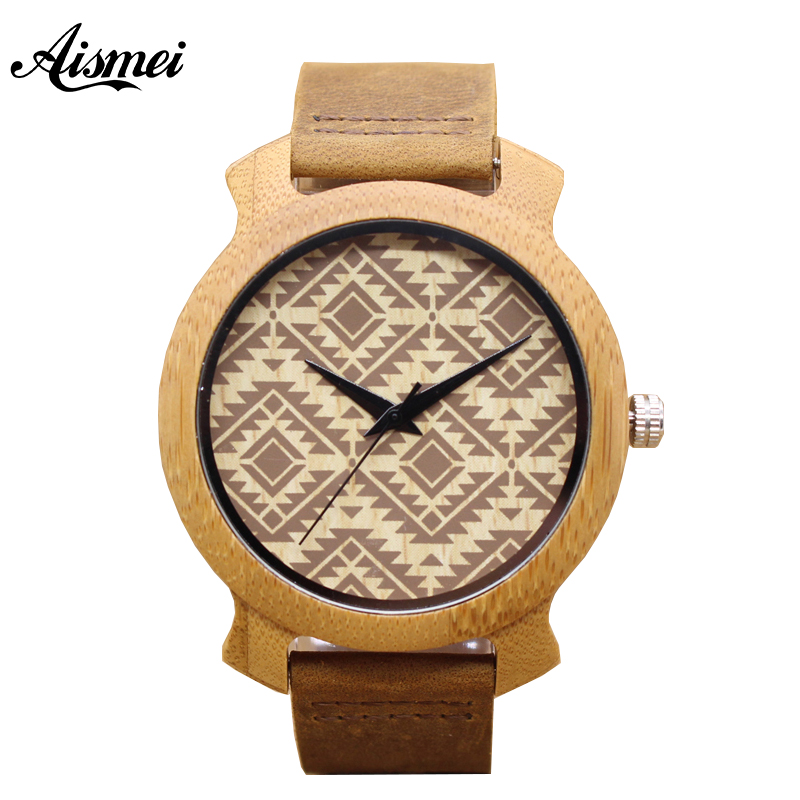 2018 Top Brand luxury Wood Watches Men Women Casual Bamboo Quartz Wristwatch Genuine Leather Strap Relogio Masculino Hombre bamboo wood watches for men and women fashion casual leather strap wrist watch male relogio