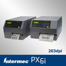 Intermec px6i industrial sticker printer with multi optional accessories barcode printer support 170mm label and 600m ribbon