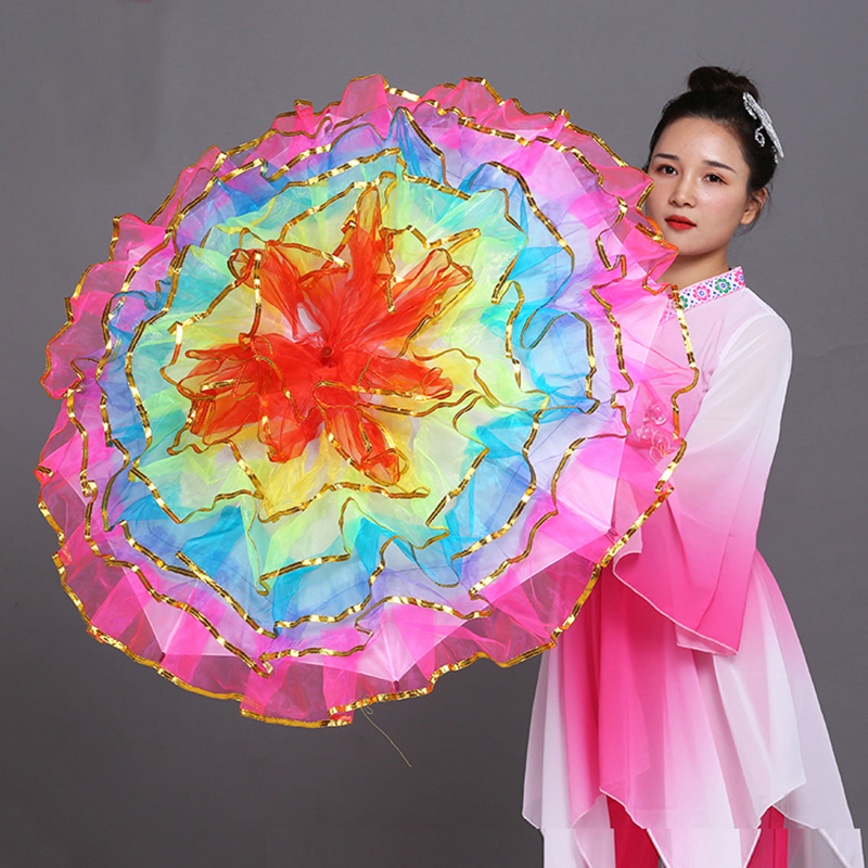 Dancing Umbrella Belly Dance Prop Stage Props Fan Opening Dance Umbrella Performance Flower Umbrella Chinese Umbrellas Props