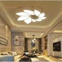 Folha-em forma de pétalas LED lâmpada do teto luzes da sala de estar moderna arte simples romântico quarto sala de estudo lustres AC85-265V