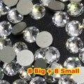 1440 unids/lote, AAA Nueva Facted (8 grande + 8 pequeña) ss20 (4.8-5.0mm) cristal Color Nail Art Pegamento En El de non-hotfix de Los Rhinestones