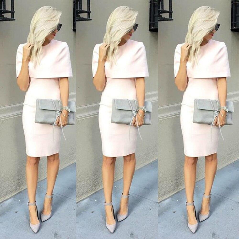 Elegant Short Light Pinkpeach Evening Dresses With Wrap Short