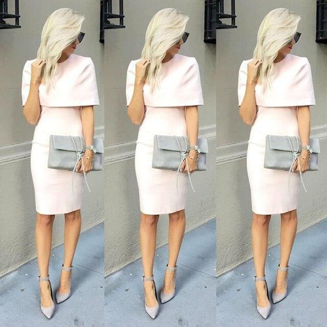 Elegante Short Hellrosa/Pfirsich Abendkleider Mit Wrap Kurze Mode ...