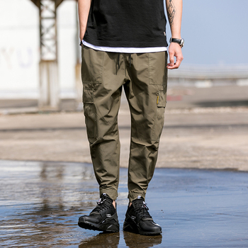 2018 New Hot Harem Pants Men Solid Streetwear Black Amy Green Casual Slim Jogger Pants Men 1