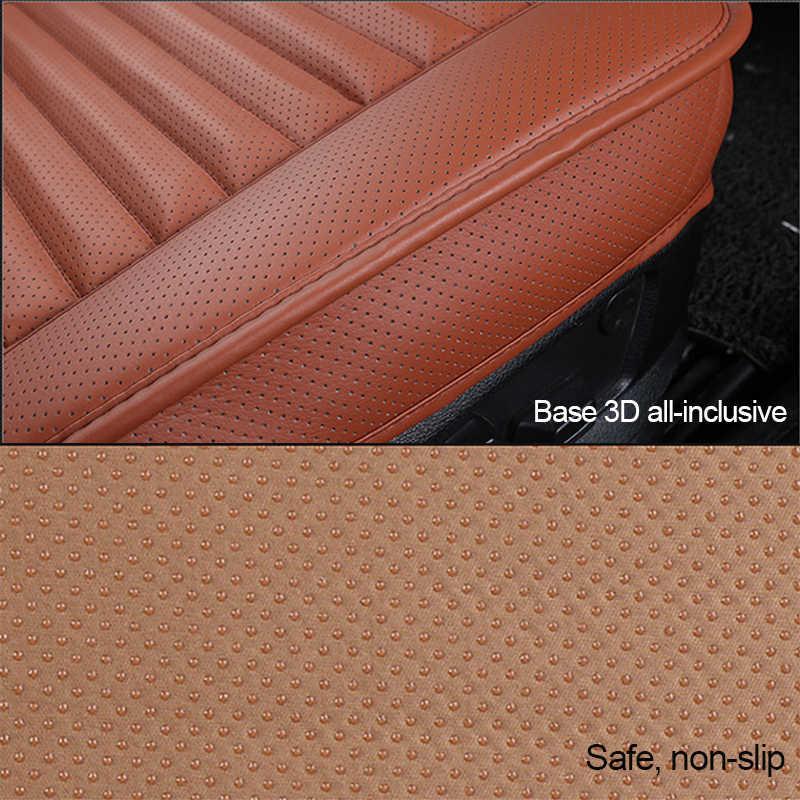 Tampas de assento do carro couro do plutônio universal automóveis assentos capa almofada interior lateral capa protetor quatro estações assento esteira acessórios
