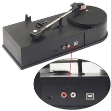 EC008B, USB Mini Phonograph Turntable Vinyl Turntables Audio Player, Support Turntable Convert LP Record to CD or MP3 Function high quality carbon fiber lp mat for turntables record
