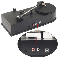 EC008B, USB Mini Phonograph Turntable Vinyl Turntables Audio Player, Support Turntable Convert LP Record to CD or MP3 Function