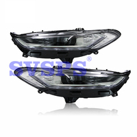 High Quality 1Pair Front Bumper LED Headlight Headlamp Head Light Lamp For Ford Mondeo Fusion 2013 2014 2015 2016 Year