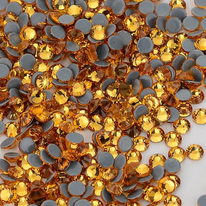 DingSheng Topaz FlatBack Glass Hot Fix Rhinestones Hot-Fix Crystal Stones For Clothes