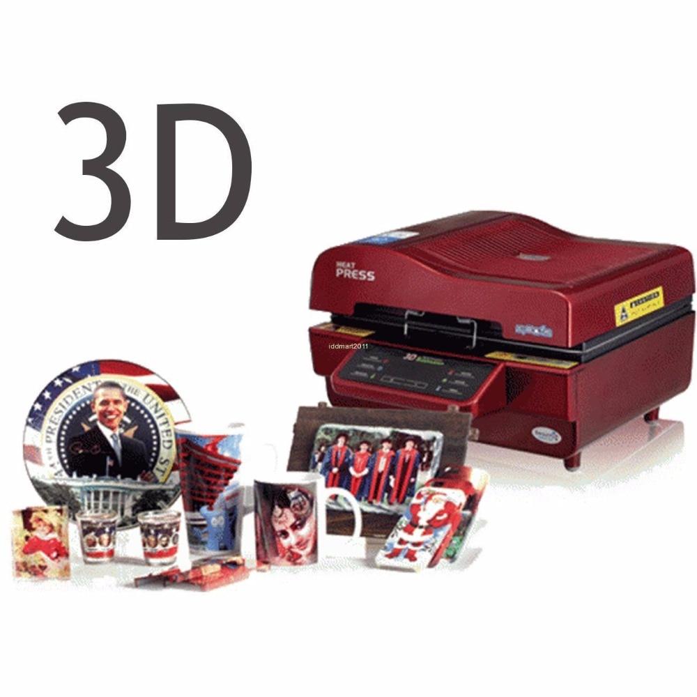 3D Sublimation Heat Press Printer Vacuum Oven Heat Press Transfer Machine DIY Phone Case Plates Mugs ST-3042