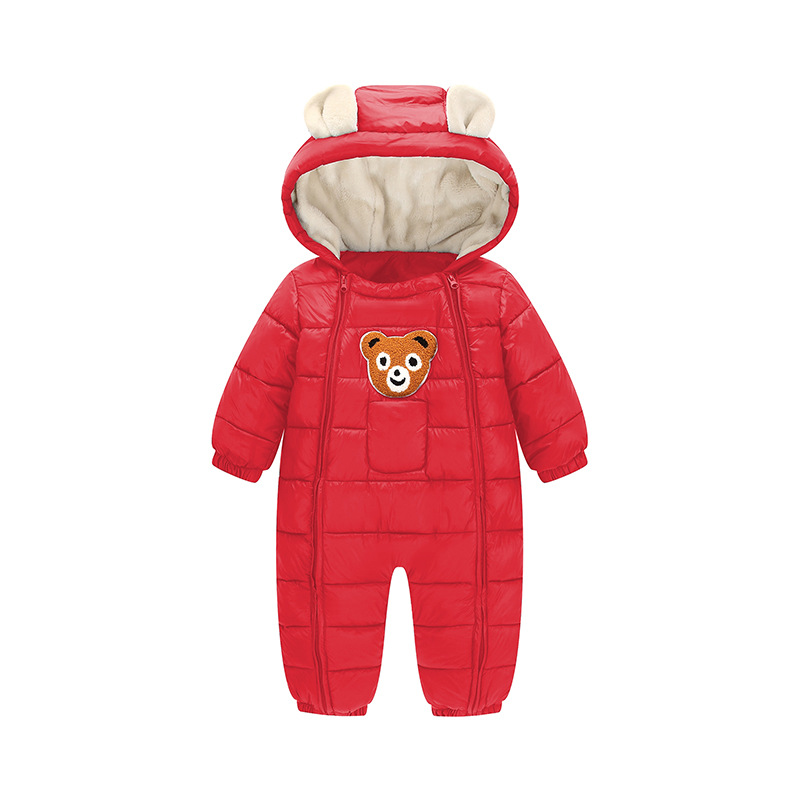 Baby Romper Winter Warm 2017 New Baby Winter Clothes Hooded Baby Boys Rompers Cotton-padded Infants Girls Jumpsuit for Kids baby hoodies newborn rompers boys clothes for autumn hooded romper cotton jumpsuit child kids costumes girls clothing