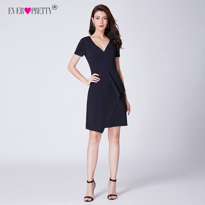Ever Pretty Cocktail Dresses 2018 Navy Blue Classi...