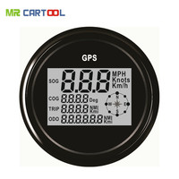 85mm GPS Digital Speedometer Stainless Steel Waterproof Digital Gauge Car Truck Boat Motorcycle 12V/24V