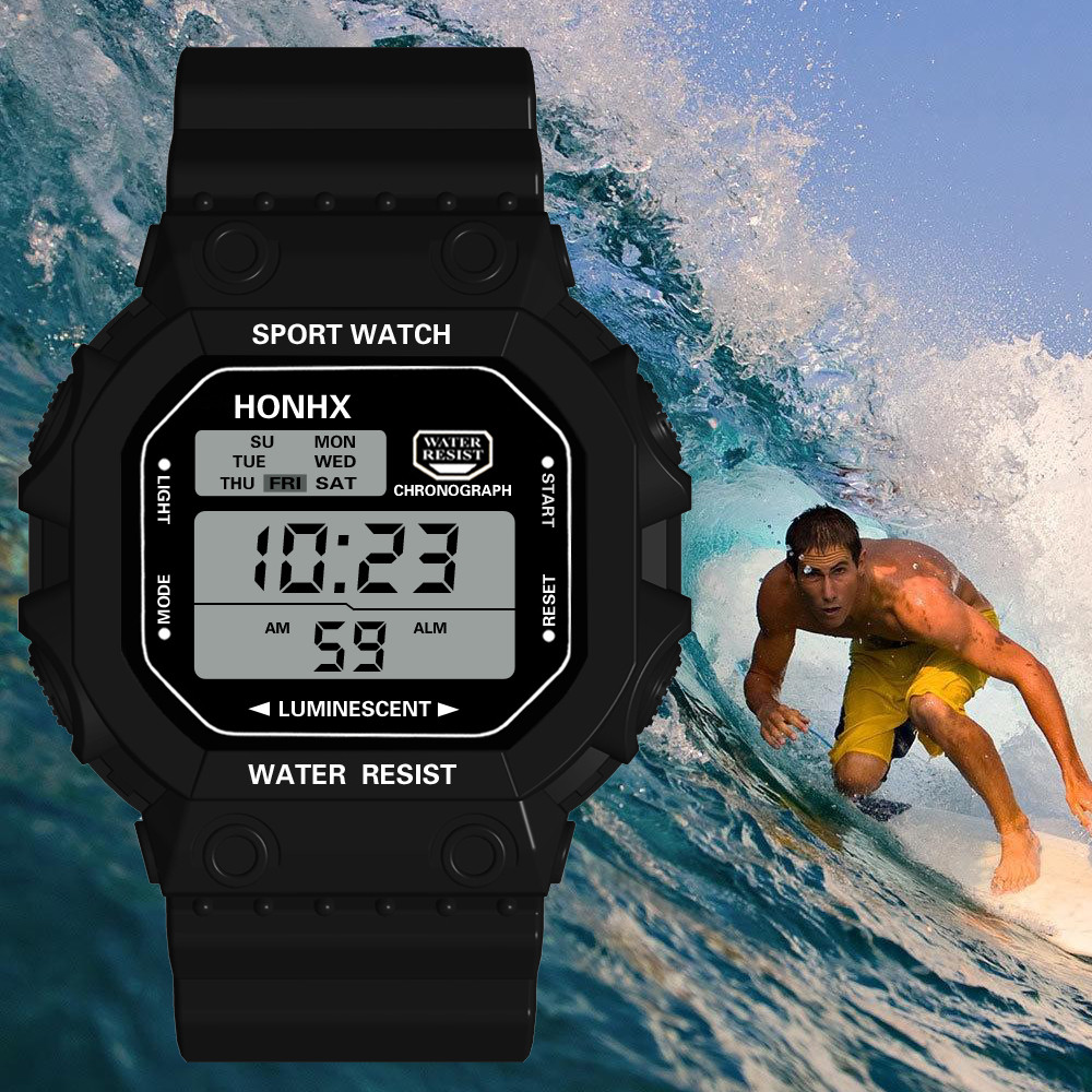 Calendar Alarm-Clock Electronic-Watch Digital-Function Waterproof Sports Fashion Relogio