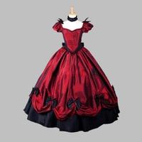 Red Princess Victorian Dress Stage Dresses Civil War Dress
