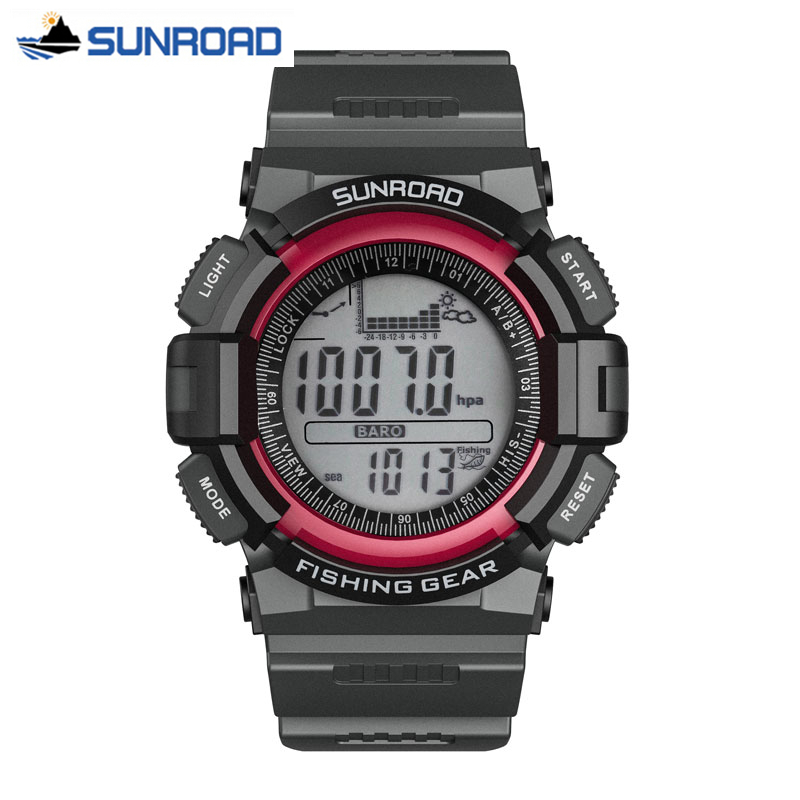 SUNROAD Sport Watch All In One Waterproof Fishing Barometer Thermometer Mountaineering Digital Military Clock Relogio Masculino