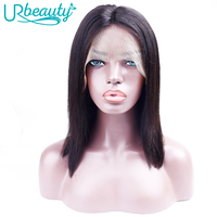 Summer Special 130 Density Glueless Lace Front Human Hair Wigs Pre Plucked Straight Short Brazilian Bob Lace Front Wigs URBeauty