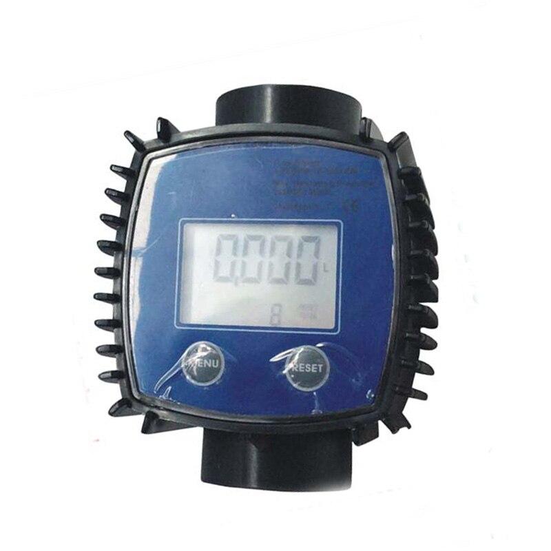 K24 Цифровой турбинный расходомер воды/метанол/дизель/бензин химической жидкости расходомер воды 1 дюймов из нержавеющей стали винт