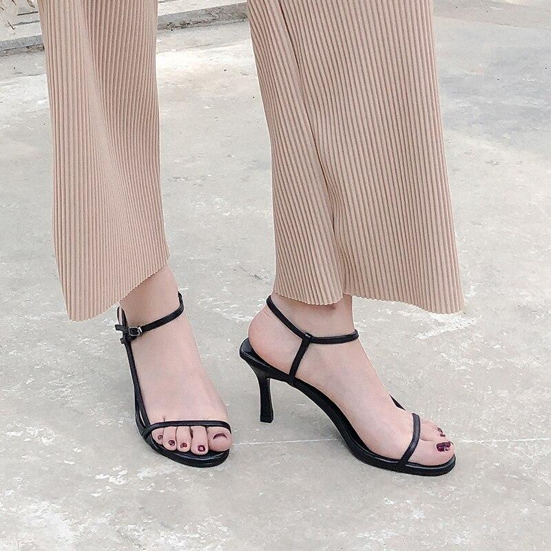 Hauts Chaussures Rouge Sangle En Nouveau Feminina Minces Femmes fb67gy