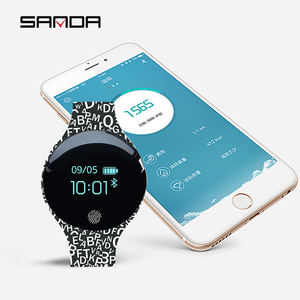 Image 3 - SANDA Bluetooth Pedometer Sport Smart Watch Soft Silicon Smart Touch Remote Camera Watches for IOS Android Reminder Waterproof