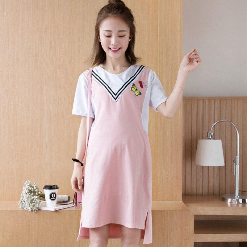 New summer maternity clothing maternity dresses pregnancy women dresses high quality dress maternity summer clothing 1625