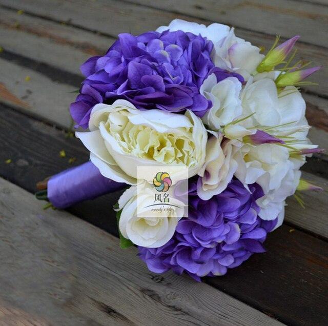 Handgemachte Hochzeit Braut Bouquet Mit Blumen Braut Brautjungfer