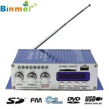 2017 Nueva 2CH 200 W de Potencia Mini Hi-fi Audio Estéreo AMPLIFICADOR Amplificador Para ipod Car Home MP3 FM DEC05 BL