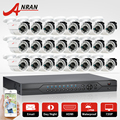 ANRAN 24CH 1080N HDMI DVR Set Security Camera System AHD 720P 1800TVL Outdoor IR Night Vision 24 Leds Home Surveillance Camera