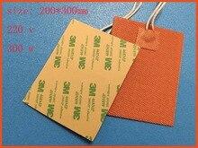 цены  Silicone riscaldamento pad riscaldatore 220 v 300 w 200*300mm per stampante 3d letto calore silicone heater pad/mat  printer