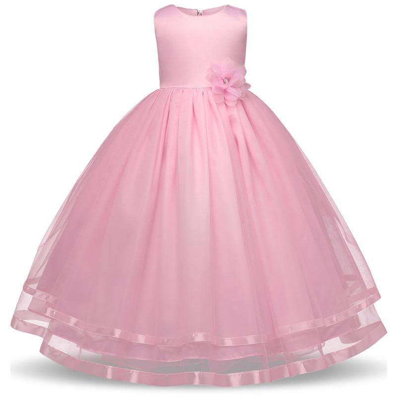Berngi New Brand Summer Style Flower Girl Wedding Dresses Evening Party Dresses For Teenager Girl Children Clothes