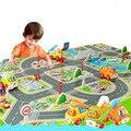 Rastejando Tapetes de Jogo Do Bebê da alta Qualidade Com Piscando Circuito de Corridas de Carro Veículo Tráfego Rodoviário Urbano Muscial Brinquedos Educativos Presente