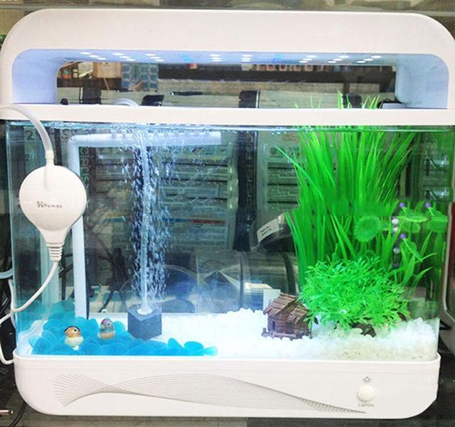 220V Mini Aquarium Air Pump High Efficient Fish Tank Aquarium Oxygenation Air Water Pump Ultra Quiet A2