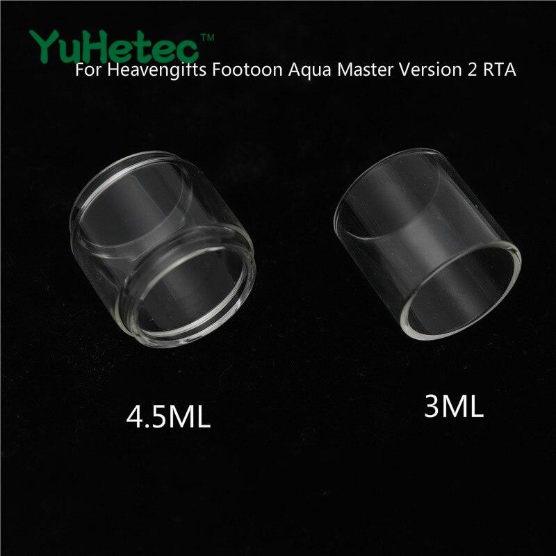2PCS YUHETEC Glass Tube /Bubble Tube For Heavengifts Footoon Aqua Master Version 2 RTA 4.5ml / 3ML For Aqua Master V2