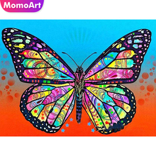 MomoArt Butterfly Diamond Painting Full Drill Mosaic Square Rhinestone Embroidery Animal Gift