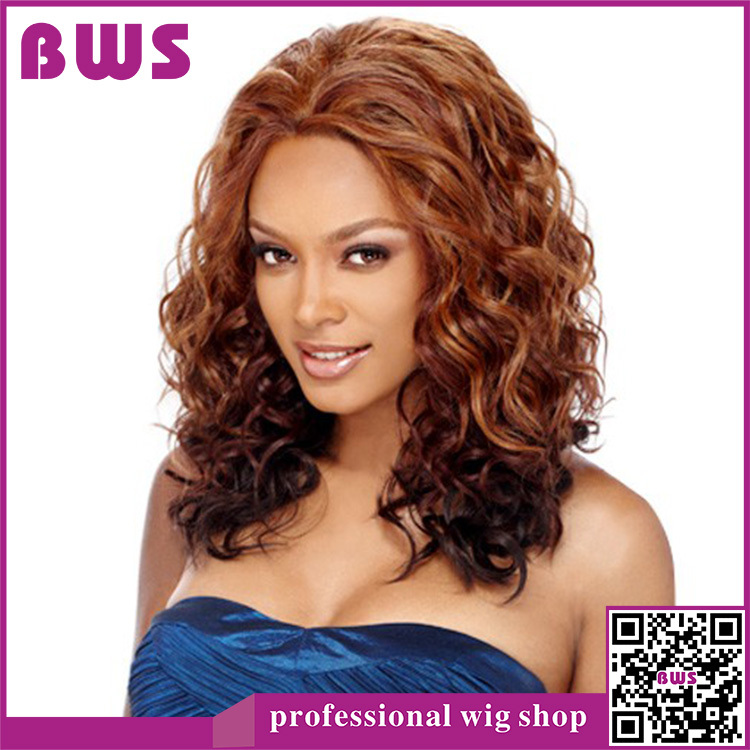 new sexy hair style free shipping womens new style curly 7706 | Free Shipping Womens Girls New Style Sexy Long Full curly Hair Brown Wigs gift Women s