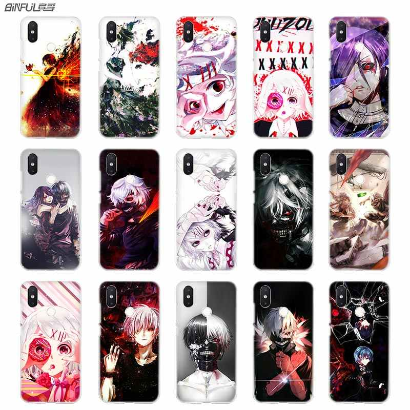 BinFul anime Tokyo Ghoul Pattern Transparent Hard phone case cover for Xiaomi mi Redmi Note 5 4 3 4X 5A Plus 6 Pro 64g S2