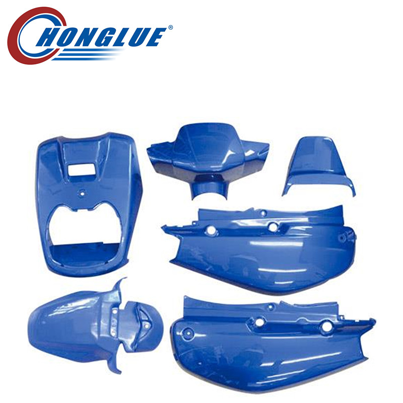 honglue For Yamaha BWS100 4VP motorcycle scooter full set body plastic paint cover body plastic cover 6Pieces Black/white/blue high quality carburetor for yamaha 4dm zuma bws50 bws100 jog50 jog90 4vp e4101 30 00