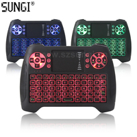 SUNGI T16 AZERTY 3 Color Backlit Mini Wireless Keyboard Touchpad English/German/Italian/Spanish/French/Thai for Android TV Box