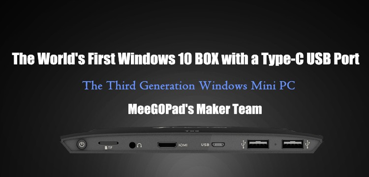 Meegopad T09 4 ГБ Оперативная память Тип-C Windows 10 Версия Mini PC, 64 ГБ Intel x5-Z8350 двухдиапазонный Wi-Fi 2.4 г/5 г 1000 Мбит/с LAN Compute stick