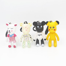 2017 Real Promotion Unisex Monchichi Porte Clef Anime Gloomy Bear Keychain Car Pendant Fashion Keyring Gift Jewelry Llavero