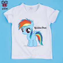 Baby Clothes 2~9 Year Kid Cartoon Pony Horse Print T-shirt