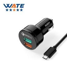 Qc2.0 автомобильное зарядное устройство зарядки Универсальный Быстрая зарядка Бесплатная доставка